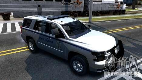 2015 Chevy Tahoe San Andreas State Trooper для GTA San Andreas вид слева