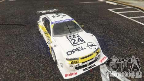 Opel Calibra DTM для GTA 5 вид сзади справа