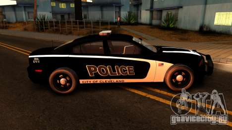 2014 Dodge Charger Cleveland TN Police для GTA San Andreas вид сзади