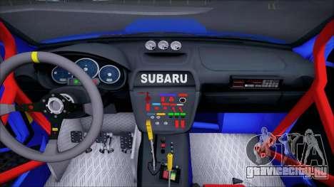 Subaru Impreza WRX STI WRC Rally 2005 для GTA San Andreas вид изнутри