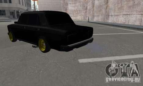 Ваз 2107 Блек Джек для GTA San Andreas вид слева