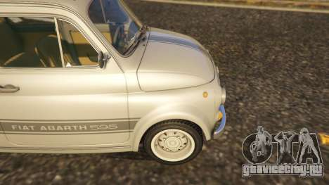 Fiat Abarth 595ss Street ver для GTA 5 вид сзади справа