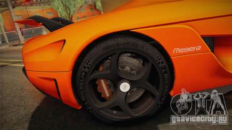 Koenigsegg Regera 2016 Bonus для GTA San Andreas вид изнутри