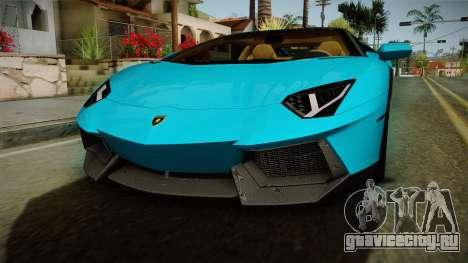 Lamborghini Aventador Itasha Rias Gremory для GTA San Andreas вид сбоку