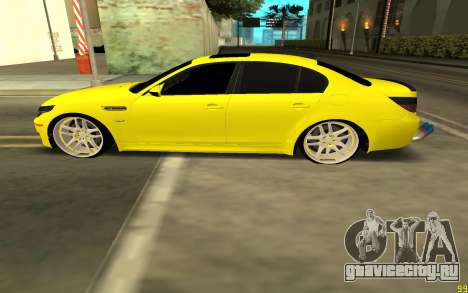BMW 5 Series E60 для GTA San Andreas вид слева