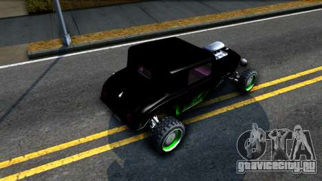 Green Flame Hotknife Race Car для GTA San Andreas вид сзади