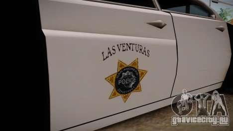 Hermes Classic Police Las Venturas для GTA San Andreas вид сзади