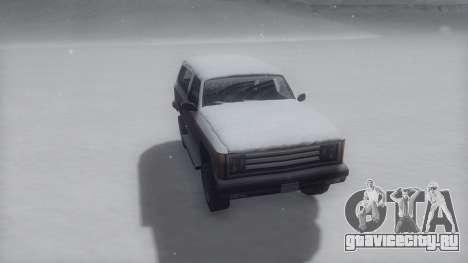 Rancher Winter IVF для GTA San Andreas вид сзади слева