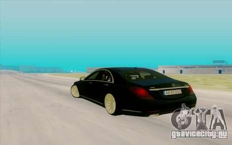 Mercedes Benz S63 для GTA San Andreas вид сзади слева