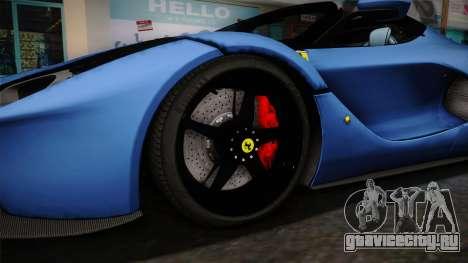 Ferrari LaFerrari Aperta 2017 для GTA San Andreas вид сзади
