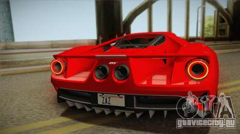 Ford GT 2017 No Stripe для GTA San Andreas