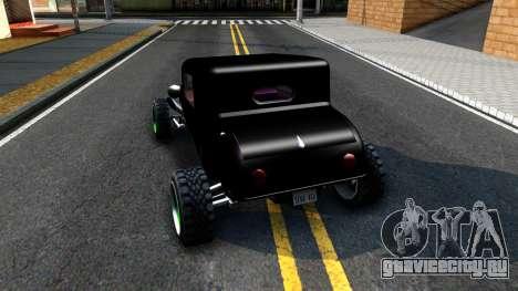 Green Flame Hotknife Race Car для GTA San Andreas вид сзади слева