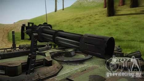 Abrams Tank Woolant Camo для GTA San Andreas вид сзади
