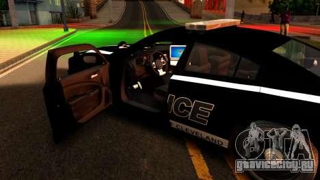 2014 Dodge Charger Cleveland TN Police для GTA San Andreas вид изнутри