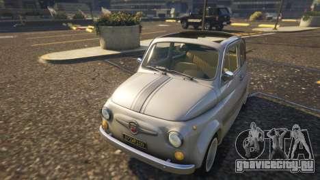 Fiat Abarth 595ss Street ver для GTA 5 вид сзади