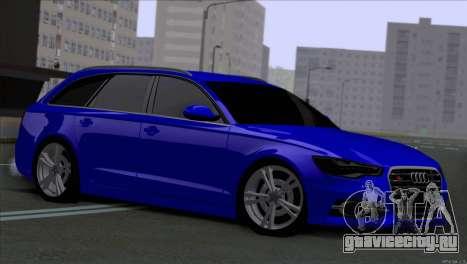 AUDI RS6 2014 для GTA San Andreas вид слева