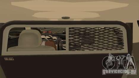 Dodge Charger County Sheriff для GTA San Andreas вид изнутри