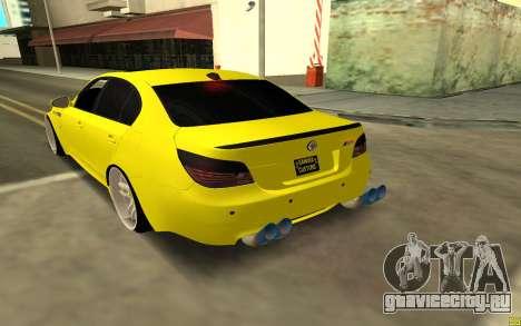 BMW 5 Series E60 для GTA San Andreas вид сзади слева