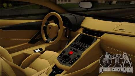 Lamborghini Aventador Itasha Rias Gremory для GTA San Andreas вид изнутри