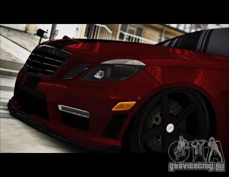 Mercedes-Benz E63 (W212) AMG 2010 для GTA San Andreas вид изнутри