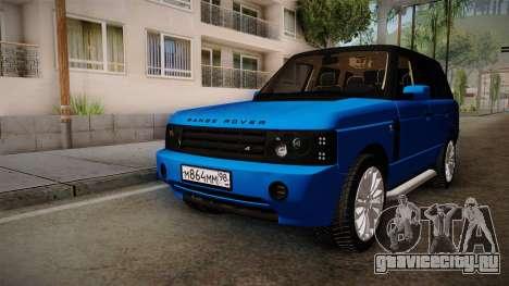 Range Rover 2008 для GTA San Andreas