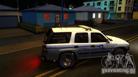 2004 Chevy Tahoe State Wildlife для GTA San Andreas вид слева