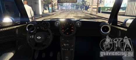 Mini Countryman для GTA 5 вид сзади слева