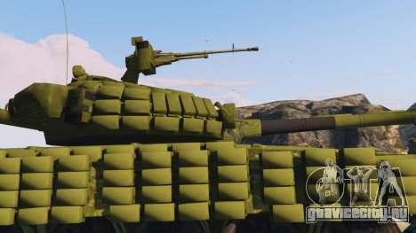 Tank T-72 для GTA 5 вид справа