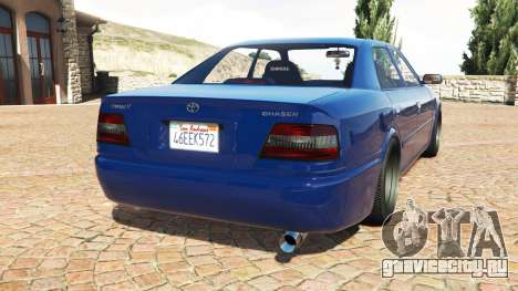 Toyota Chaser (JZX100) cambered v1.1 [add-on] для GTA 5 вид сзади слева