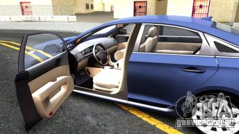 Hyundai Sonata 2016 для GTA San Andreas вид изнутри