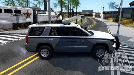 2015 Chevy Tahoe San Andreas State Trooper для GTA San Andreas