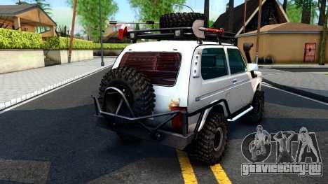 Lada Niva 4x4 Off Road для GTA San Andreas вид сзади слева