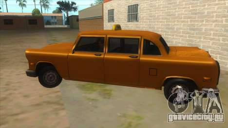 VC Cabbie Xbox для GTA San Andreas вид слева