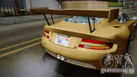 Aston Martin Racing DBRS9 GT3 2006 v1.0.6 YCH для GTA San Andreas салон