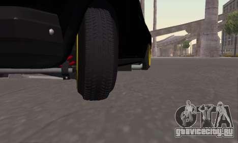 Ваз 2107 Блек Джек для GTA San Andreas вид сзади