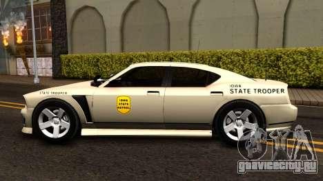 Bravado Buffalo Slicktop 2012 Iowa State Patrol для GTA San Andreas вид слева