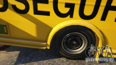 Carro Forte Prosegur Brasil для GTA 5 вид справа