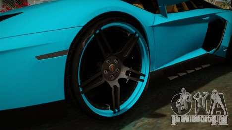 Lamborghini Aventador Itasha Rias Gremory для GTA San Andreas вид сзади