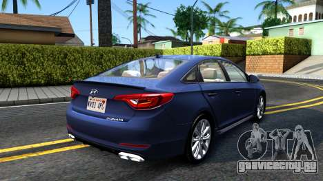 Hyundai Sonata 2016 для GTA San Andreas вид сзади слева