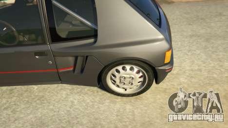 Peugeot 205 Rally для GTA 5 вид сзади справа
