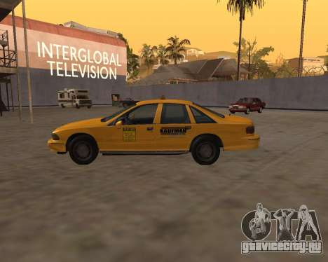 Chevrolet Caprice Taxi Kaufman для GTA San Andreas вид слева