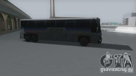 Coach Winter IVF для GTA San Andreas вид сзади слева
