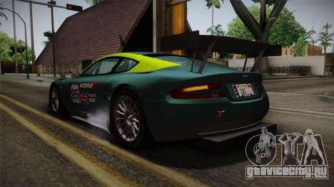 Aston Martin Racing DBRS9 GT3 2006 v1.0.6 YCH для GTA San Andreas колёса
