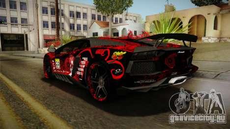 Lamborghini Aventador Itasha Rias Gremory для GTA San Andreas колёса