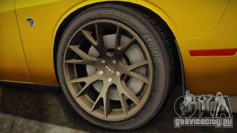 Dodge Challenger Hellcat 2015 для GTA San Andreas вид сзади слева