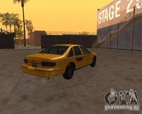 Chevrolet Caprice Taxi Kaufman для GTA San Andreas вид сзади слева