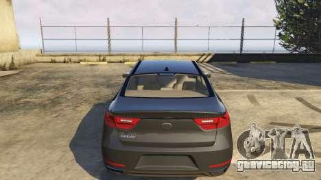 Kia Cadenza 2017 для GTA 5 вид справа