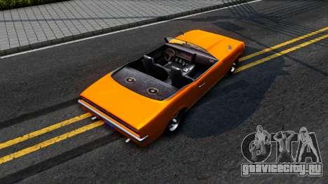 GTA V Declasse Vigero Retro Rim для GTA San Andreas вид сзади