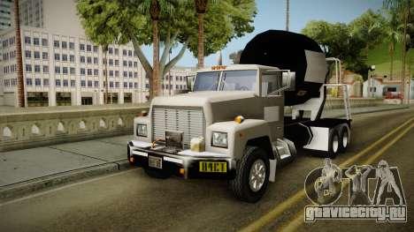 Realistic Cement Truck для GTA San Andreas вид сзади слева
