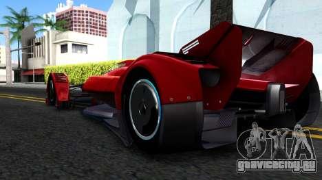 McLaren MP4 X 2016 для GTA San Andreas вид справа